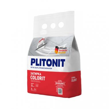 Плитонит Colorit затирка между всеми типами плитки темно-серая 2 кг
