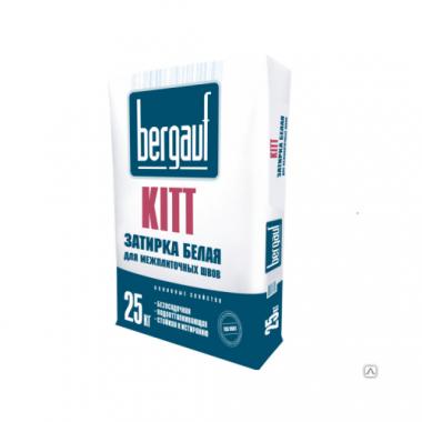 Bergauf KITT - ЗАТИРКА БЕЛАЯ для межплиточных швов толщиной 1-5 мм  25 кг