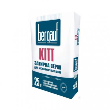 Bergauf KITT - ЗАТИРКА СЕРАЯ для межплиточных швов толщиной 1-5 мм  25 кг