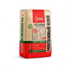Старатели Монтажный клей для блоков тонкослойный (зимний) 25 кг
