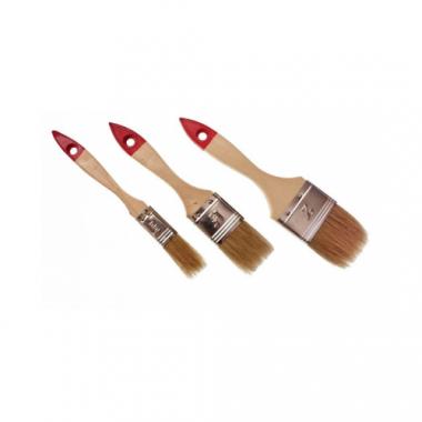 Кисть флейцевая натуральная щетина деревянная ручка 100 мм
