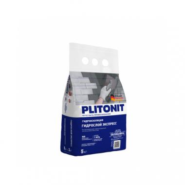 Плитонит ГидроСлой экспресс смесь гидроизоляционная 5 кг