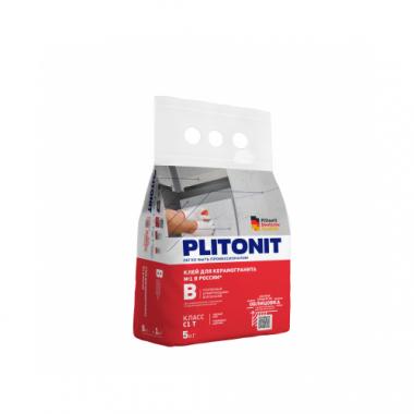 Плитонит В Клей усиленный для керамогранитной и керамической плитки 5 кг