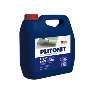 Плитонит Грунт СуперПол праймер-концентрат акрилатный для напольных работ 3 кг