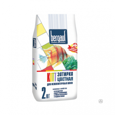 Bergauf KITT - ЗАТИРКА БЕЛАЯ для межплиточных швов толщиной 1-5 мм  2 кг