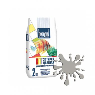 Bergauf KITT - ЗАТИРКА СЕРАЯ для межплиточных швов толщиной 1-5 мм  2 кг