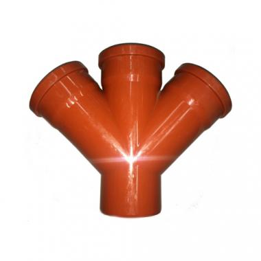 MegaPlast Крестовина ПВХ рыжая 45* 110х110х110 мм