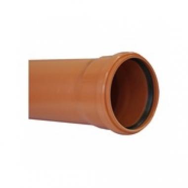 MegaPlast Труба ПВХ Рыжая 110х3,2х1000 мм