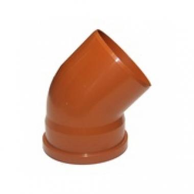 MegaPlast Отвод ПВХ 110х45* (рыжий)