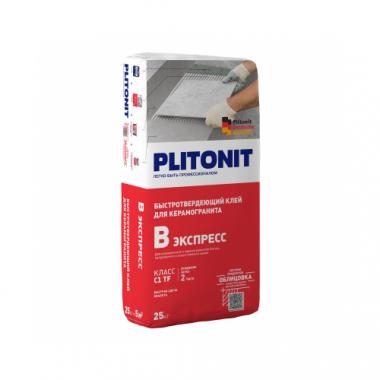 Плитонит В Экспресс клей для плитки Вб быстротвердеющий 25 кг