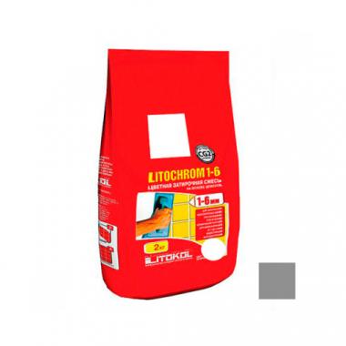 Litokol Затирочная смесь LITOCHROM 1-6 C.10 серая 2 кг