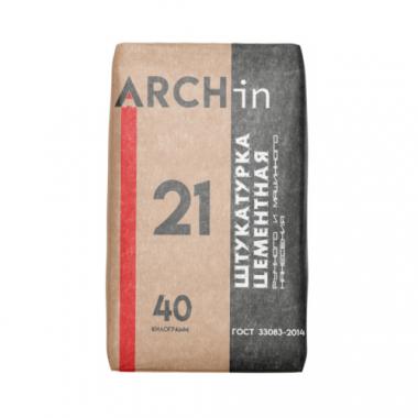 АРХИН (ARCHin) Штукатурка цементная для машинного и ручного нанесения 40 кг