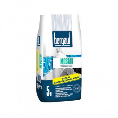 Bergauf Mosaik клей белый для мозайки и прозрачной плитки 5 кг