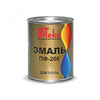 Витеко Эмаль ПФ 266 красно-коричневая 1,9 кг