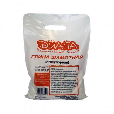 Диана Глина шамотная огнеупорная 20 кг