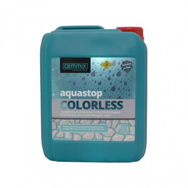 Cemmix Прозрачная водоотталкивающая пропитка AquaStop Colorless 5л