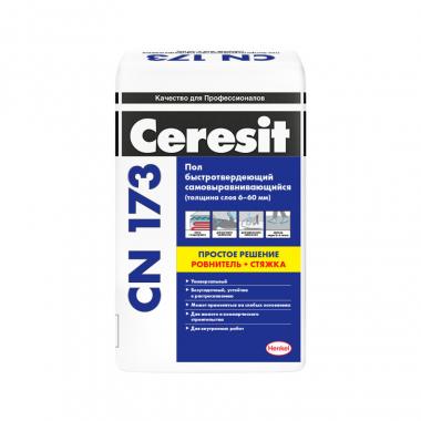 Ceresit СN-173 Смесь для пола самовыравнивающаяся быстротвердеющая 20кг