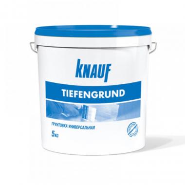 Knauf Тифенгрунд грунтовка укрепляющая глубокого проникновения 5 кг