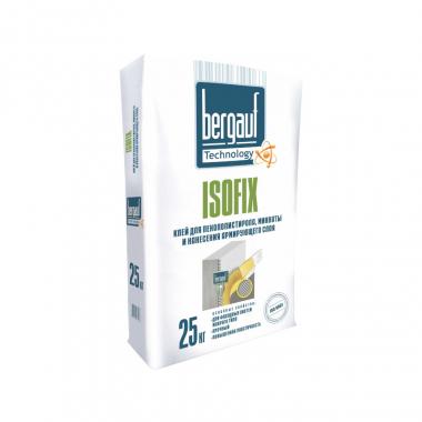 Bergauf Isofix клей для пенополистирола, минваты и фасадных систем мокрого типа 25кг