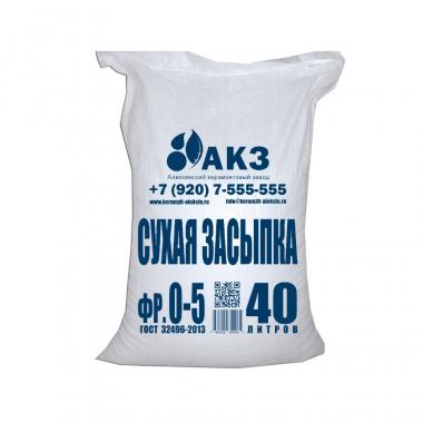 Сухая засыпка для сборных полов АКЗ 40л Ф0-5мм