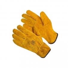 Перчатки из расщепленной кожи, желтые 10,5